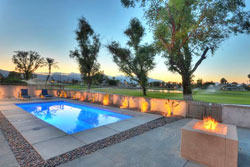 pet friendly vacation rental picture of a sleek modern home in indian wells, california